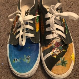 CUSTOM VANS hand painted desert and ocean vans